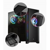 Corsair Tempered Glass Mid-Tower ATX Case 4000D Side window,  Mid-Tower, Black, Power supply included No, Steel, Tempered Glass