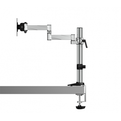 """Raidsonic B-MS403-T Monitor stand with table support for one monitor up to 27"""" (68 cm), Rotate, Swivel, Tilt, Maximum weight (capacity) 8 kg, Silver 3"""