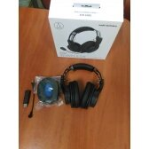 IŠPARDUODAMA. Audio Technica ATH-G1WL Gaming Headset, Over-Ear, Wireless, Microphone, Black/Blue Audio Technica USED REFURBISHED WITHOUT ORIGINAL PACKAGING, Warranty 3 month(s)