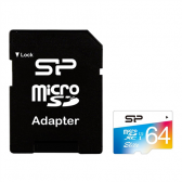 Silicon Power Elite UHS-1 Colorful 64 GB, MicroSDXC, Flash memory class 10, SD adapter