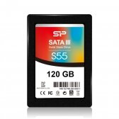 Silicon Power Slim S55 120 GB, SSD interface SATA, Write speed 420 MB/s, Read speed 550 MB/s