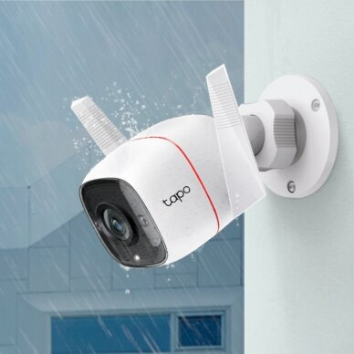 TP-LINK Outdoor Security Wi-Fi Camera C310 Bullet, 3 MP, 3.89 mm, IP66, H.264,  MicroSD