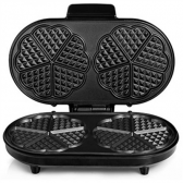 Tristar Waffle maker WF-2120 1200 W, Number of pastry 10, Heart shaped, Black